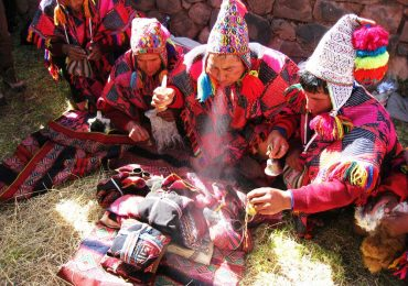 offering to other earth in sacred valley
