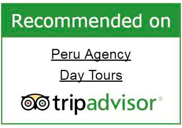 Badge recomended on tripadvisor Peru Agency