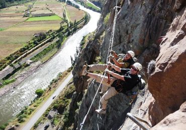 Zip line tour in Peru in Sacred Valley